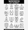 set busies icons leadrship vector image