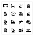 Set icons of car service equipment vector image vector image