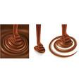 set of chocolate background swirl vector image vector image
