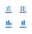 set of modern city logo design template skyline vector image vector image