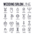 set wedding salon preparation marriage vector image