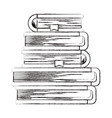 sketch blurred silhouette of stack of books with vector image vector image