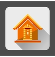 Small house icon flat style