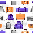 suitcase pattern seamless texture travel vector image
