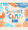 summer camp 2020 inviting banner vector image vector image