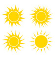 sun symbol icon design isolated on white vector image vector image