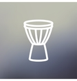Timpani thin line icon vector image vector image