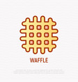 waffle line icon of bakery vector image