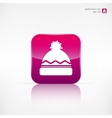 Winter snowboard cap icon vector image vector image