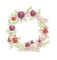 Floral ring frame vector image