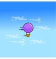 Hot air balloon in the sky art vector image