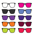 sunglass set in colorful vector image