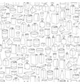 food packaging seamless pattern different package vector image