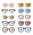 Glasses human eye set vector image