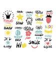 14 children s logo with handwriting little boy it vector image vector image