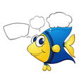 A colorful fish with callouts vector image vector image