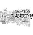 a teddy bear for everyone text word cloud concept vector image vector image
