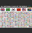 all national flags world realistic waving vector image vector image