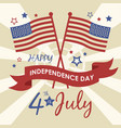 american flag happy fourth july vector image vector image