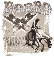 american original sport rodeo vector image