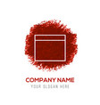 application window interface icon - red vector image vector image