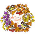 autumn frame in color vector image vector image