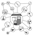 Basic Construction Icons vector image vector image