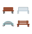 bench icon set flat style vector image