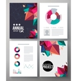Brochure template design for an annual project vector image