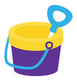 bucket for beach on white background vector image vector image
