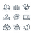 busines commerce icon pack vector image vector image