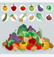 cartoon hand drawn vegetables for cooking vector image