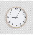clock on transparent background vector image vector image