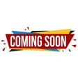 coming soon banner design vector image vector image