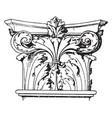 corinthian pilaster capital encircled vector image vector image