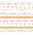 cute abstract hand drawn pink seamless patterns vector image vector image