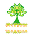 Easter tree frame vector image vector image