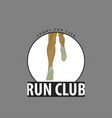 emblem for club runners vector image vector image