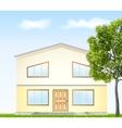 facade with tree vector image vector image
