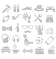 father day icon set vector image vector image