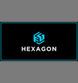fg hexagon logo design inspiration vector image vector image