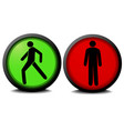green and red traffic lights vector image