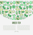 green tea ceremony concept vector image vector image