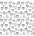 hearts sketch seamless pattern vector image vector image