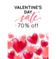 holiday romantic sale with realistic 3d flying vector image vector image
