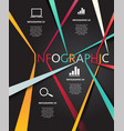 infographic business connection line vector image vector image