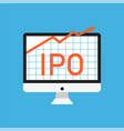 initial public offering concept vector image vector image