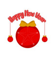 isolated christmas ball happy new year vector image