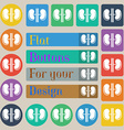 Kidneys icon sign Set of twenty colored flat round vector image