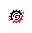 letter g gear logo design template vector image